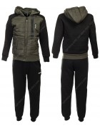 CH3734 черн.  Спорт. костюм  мальчик(флис) 116-146 по 6