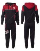 59095 чёрн/красн Спорт. костюм мальчик 10-16 по 4
