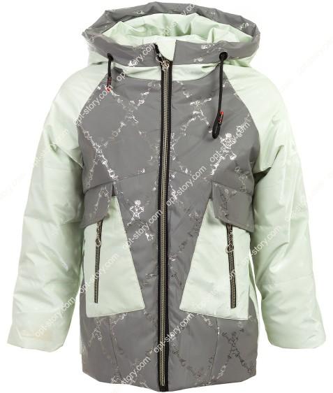JB-005# зеленый Куртка дев 122-146 по 5