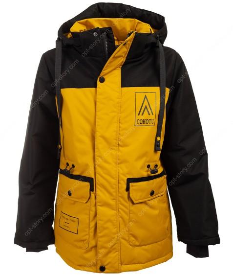T211 желтый Куртка маль 140-164 по 5