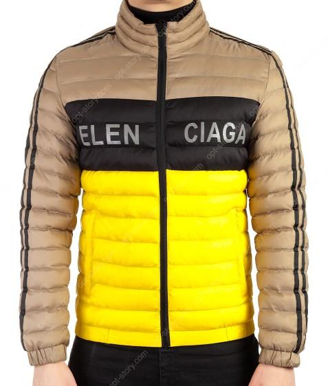 6573 желт. Куртка мужская S-2XL по 5