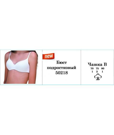 Бюст подростк  La vivas 50218  В  (70-75(2)-80)  (4шт.) белый, ш.к. 40619 (уп.)