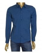 1343V-5 син.(дл. рукав) Рубашка мужская S-XL по 4