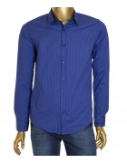1343V-14 син.(дл. рукав) Рубашка  мужская S-XL по 4