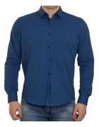 51343V-5 син.(дл. рукав) Рубашка мужская 2XL-5XL по 4