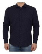 51343V-11 черн.(дл. рукав) Рубашка мужская 2XL-5XL по 4