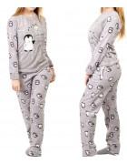1140-1 сер. Пижама женская+ носки,маска для сна S-XL по 4