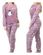 1140-2 св.фиолет. Пижама женская+ носки,маска для сна S-XL по 4