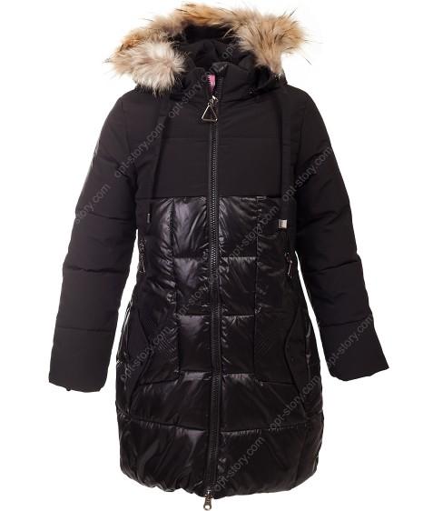 LH-16 чёрн. Куртка девочка 134-158 по 5