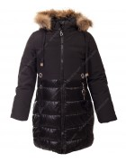 LH-10 чёрн. Куртка девочка 122-146 по 5