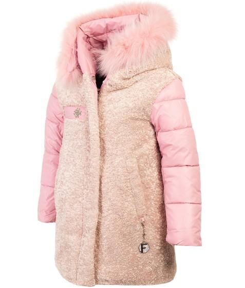 8983 пудра Куртка дев.2-х сторон девочка  116-140 по 5