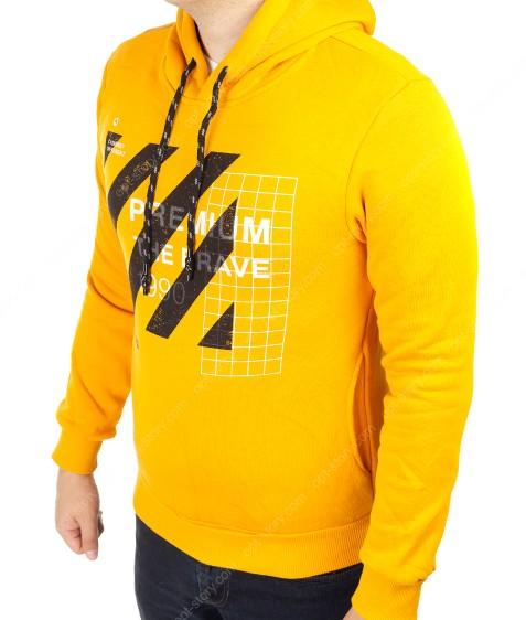 9008 желтый Реглан муж ФЛИС M-2XL по 4шт