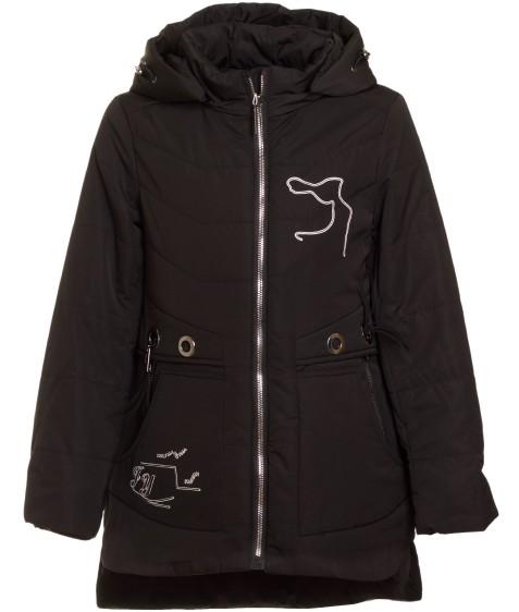 1706 черн.Куртка девочка 134-158 по 5