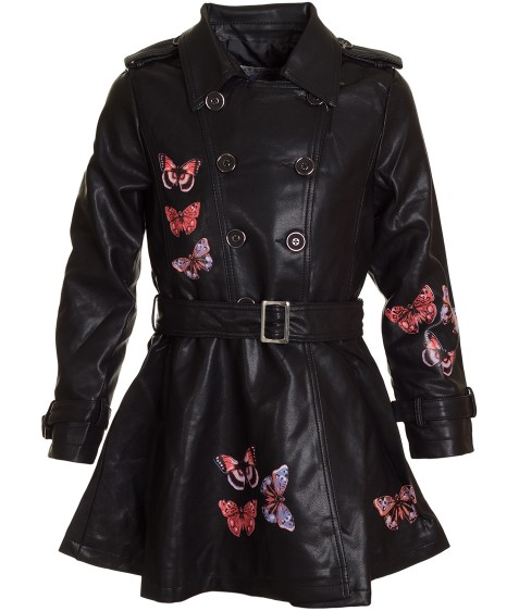1768 черн.Куртка девочка 3-12 по 6