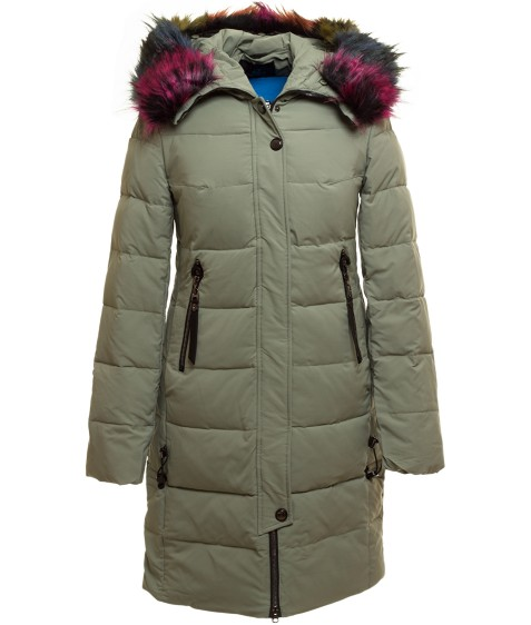 YH7313 зелен Куртка женская S-XXL по 5