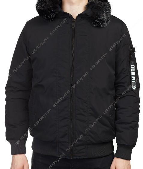 1511-1 черн. Куртка мужская  M-3XL по 6