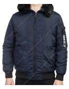 1511-2 т.син. Куртка мужская  M-3XL по 6