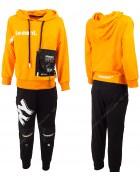 2191 оранж Спорт костюм маль 120-160 по 5
