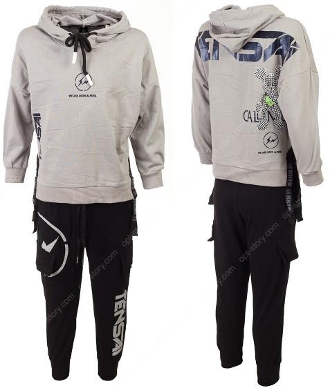 2200 серый Спорт костюм маль 120-160 по 5