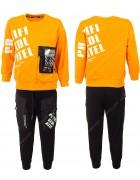 2202 оранж Спорт костюм маль 120-160 по 5