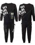 2202 черный Спорт костюм маль 120-160 по 5