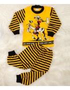 1445 ковбой желт. Пижама для мальчика  1-3 лет по 3 шт