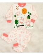 Пижама для девочки розовая 1-3 года по 3 шт. арт. 1870