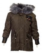 OS-1838# хаки Куртка девочка 140-164 по 5