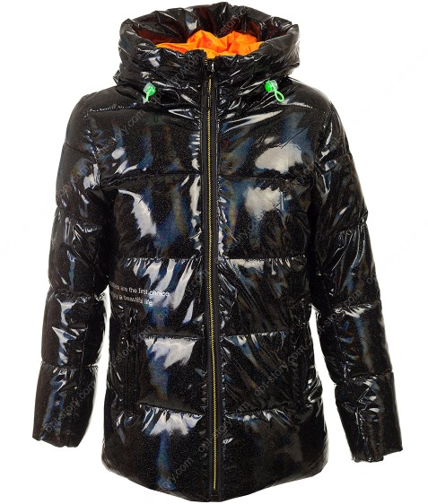 237 черн Куртка  девочка 128-152 по 5