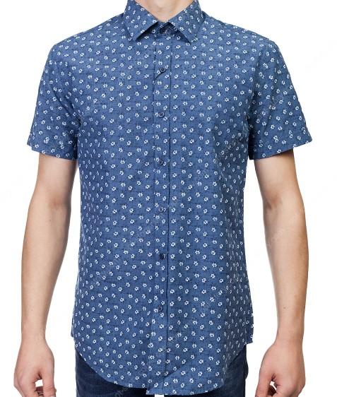 7962-13 Рубашка мужская (кор.рукав) S-2XL по 6