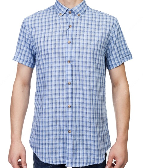 7962-19 Рубашка мужская (кор.рукав) S-2XL по 6