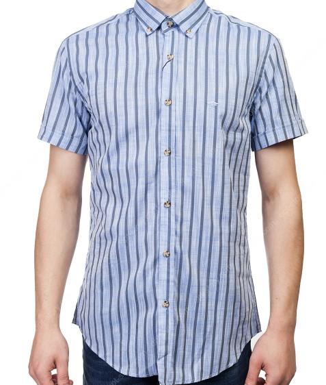 7962-3 Рубашка мужская (кор.рукав) S-2XL по 6