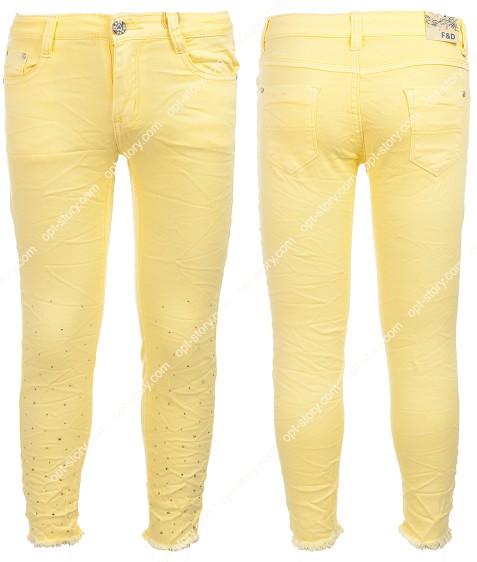6130 желтый Джинсы дев. 4-12 по 5