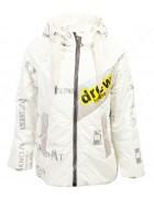 2102 белая Куртка  девочка 128-152 по 5