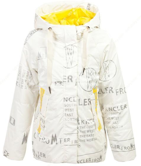 2103 белая Куртка девочка  140-164 по5