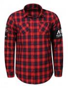 MCS-8293 красный Рубашка мужская S-XL 48/8