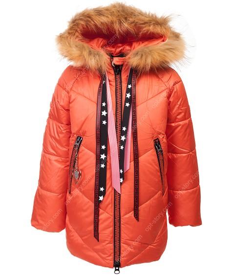 8992 корал. Куртка девочка 104-128 по 5