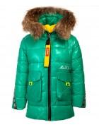 118 зел. Куртка девочка  92-116 по 5 шт.