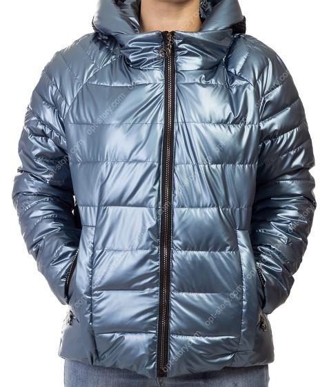 F665# син Куртка женская S-2XL по 5
