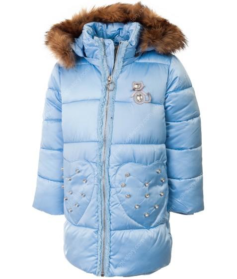 B-15 голуб. Куртка девочка  92-116 по 5