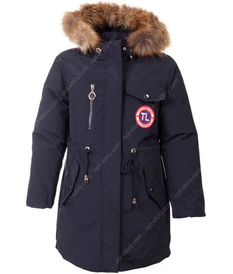 HL-601 син Куртка девочка  122-146 по 5