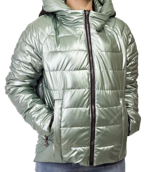 F665# зел Куртка женская S-2XL по 5