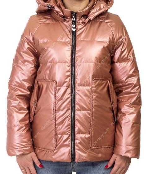 F689# роз Куртка женская S-2XL по 5