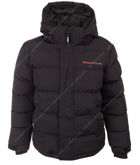 BMA-1625 черн. Куртка  мальчик 134-170 по 4шт