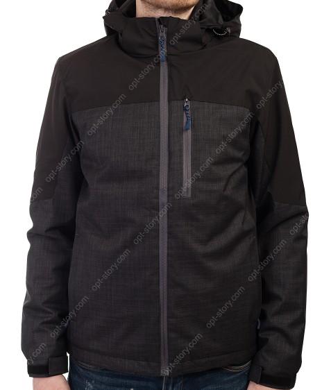 B989 сер/чёрн Куртка мужская M-3XL по 5