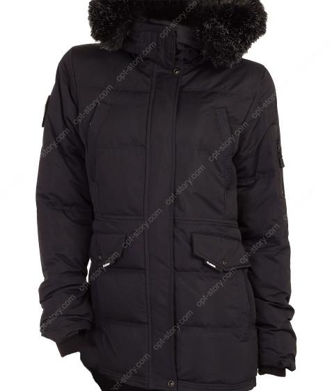 5424 черн. Куртка женская S-2XL по 5