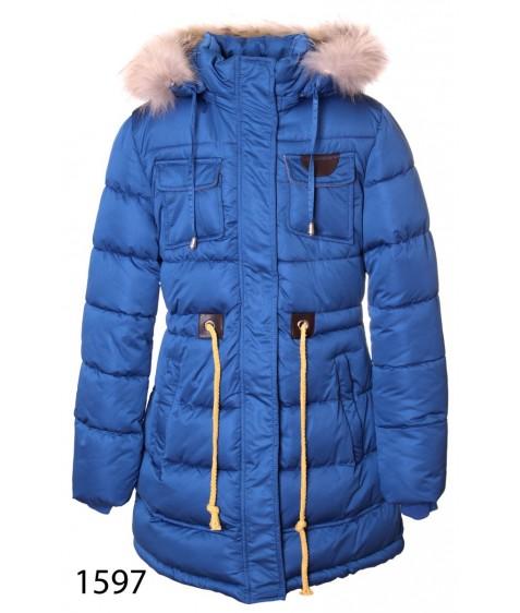 1597 синий Куртка девочка140-164 по 5 шт
