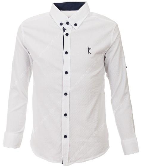 G-977 R2 бел Рубашка мальчик 9-15 по 7-8
