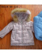 8831 розовый Пальто девочка 98-122
