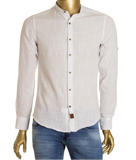 1211V-1 бел.(дл. рукав) Рубашка мужская S-2XL по 5